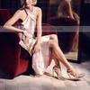 Women's Pumps Stiletto Heel Red Leatherette Wedding Shoes #LDB03030868