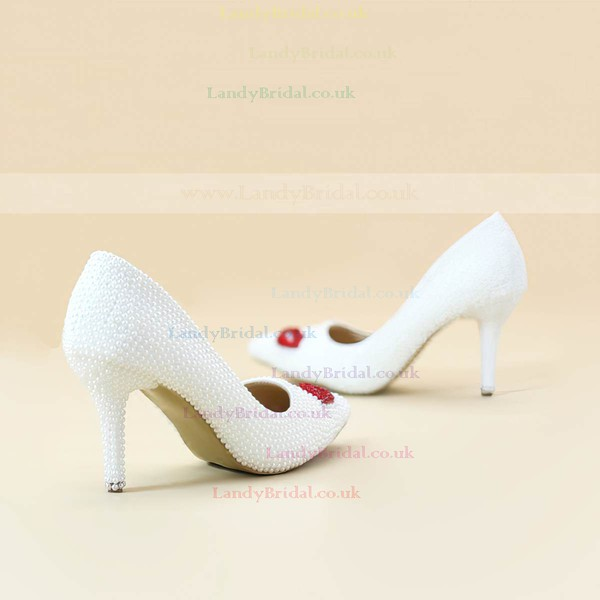 Women's Pumps Cone Heel Ivory Leatherette Wedding Shoes