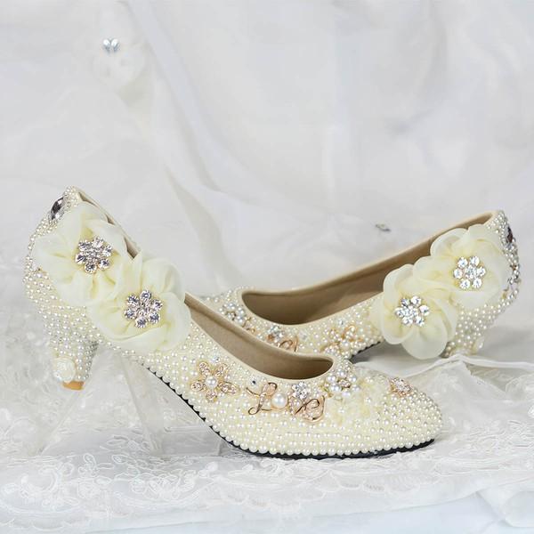 Women's Pumps Kitten Heel Leatherette Wedding Shoes