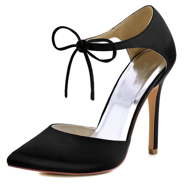 Women's Pumps Stiletto Heel Satin Wedding Shoes