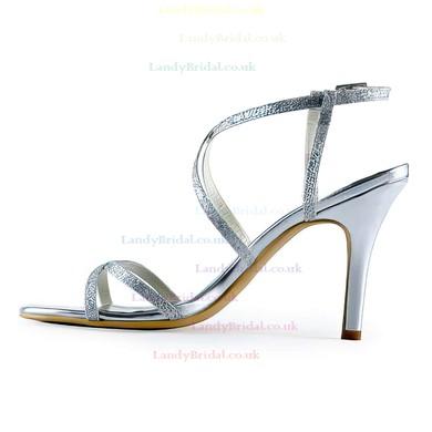 Women's Sandals Stiletto Heel Sparkling Glitter Wedding Shoes #LDB03030891