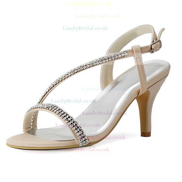 Women's Sandals Cone Heel Satin Wedding Shoes
