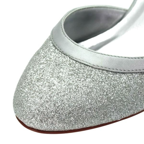Women's Pumps Cone Heel Sparkling Glitter Wedding Shoes