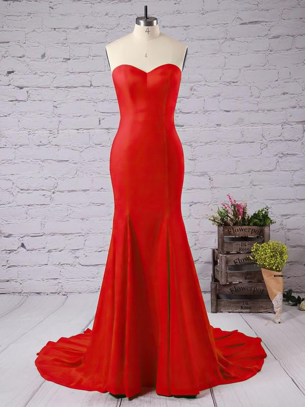 Trumpet/Mermaid Sweetheart Jersey Sweep Train Prom Dresses #LDB020102598