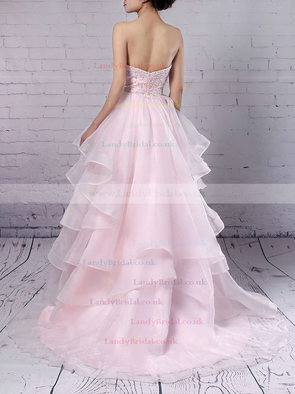 Ball Gown Sweetheart Organza Floor-length Beading Prom Dresses #LDB020103055