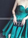 A-line Sweetheart Satin Asymmetrical Ruffles Prom Dresses #LDB020103201