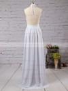 A-line Halter Chiffon Floor-length Split Front Prom Dresses #LDB020103638