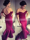 Trumpet/Mermaid Off-the-shoulder Satin Asymmetrical Prom Dresses #LDB020103720