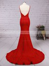Trumpet/Mermaid Sweetheart Jersey Court Train Appliques Lace Prom Dresses #LDB020103733