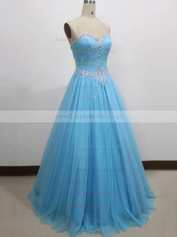 Ball Gown Sweetheart Tulle Floor-length Lace Prom Dresses #LDB020104337