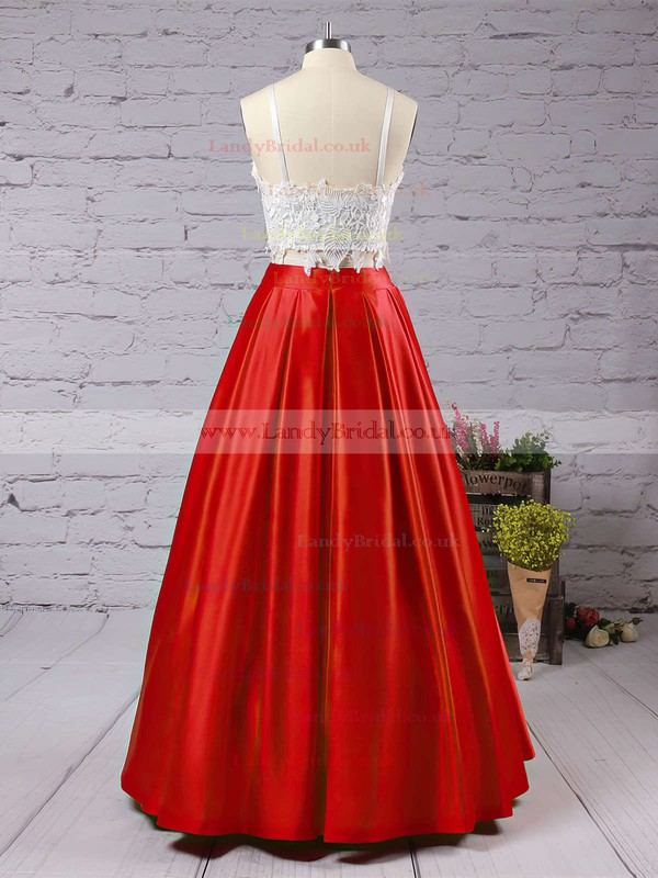 Ball Gown Square Neckline Satin Floor-length Appliques Lace Prom Dresses #LDB020104587