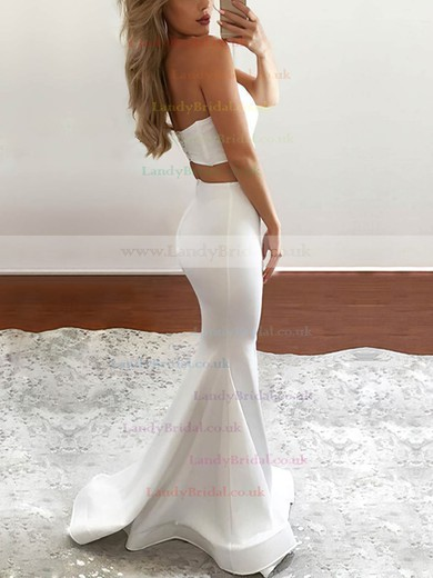 Trumpet/Mermaid Sweetheart Satin Floor-length Split Front Prom Dresses #LDB020104804