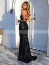 Trumpet/Mermaid Sweetheart Sequined Sweep Train Prom Dresses #LDB020104962