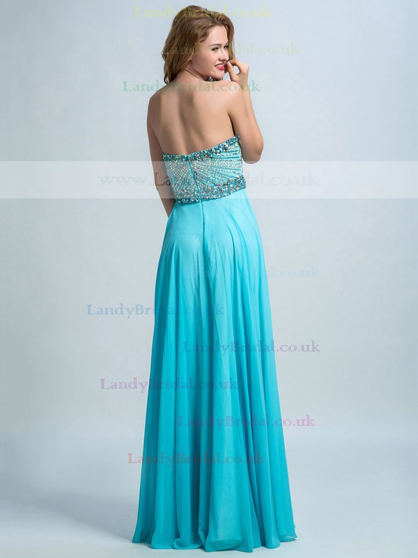 Sweetheart Online White Chiffon with Crystal Detailing A-line Prom Dresses #LDB02015343