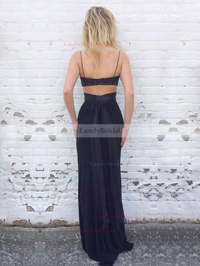 Sheath/Column Sweetheart Jersey Floor-length Ruffles Prom Dresses #LDB020105355