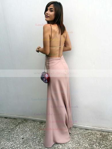 Sheath/Column Square Neckline Silk-like Satin Floor-length Prom Dresses #LDB020105366