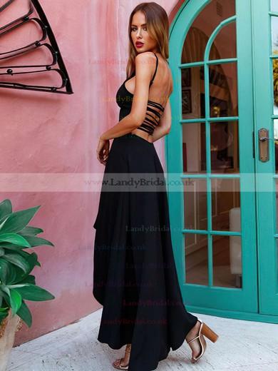 A-line Scoop Neck Jersey Asymmetrical Prom Dresses #LDB020105406