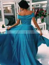 Princess Off-the-shoulder Satin Sweep Train Pockets Prom Dresses #LDB020105710