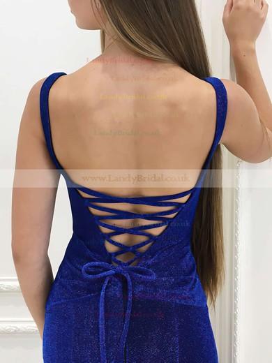 Trumpet/Mermaid V-neck Velvet Floor-length Ruffles Prom Dresses #LDB020106073