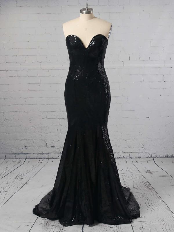 Trumpet/Mermaid Sweetheart Sequined Sweep Train Prom Dresses #LDB02016323