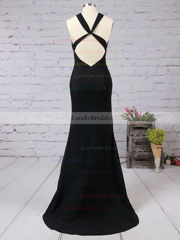 Trumpet/Mermaid Scoop Neck Jersey Floor-length Prom Dresses #LDB02016822