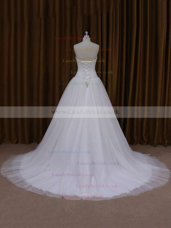 Perfect Sweetheart Tulle with Beading Lace-up Princess Wedding Dresses #LDB00021705