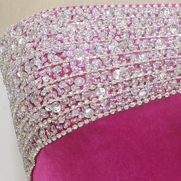 Trumpet/Mermaid Scoop Neck Fuchsia Silk-like Satin with Bow Long Sleeve Prom Dress #LDB020100553